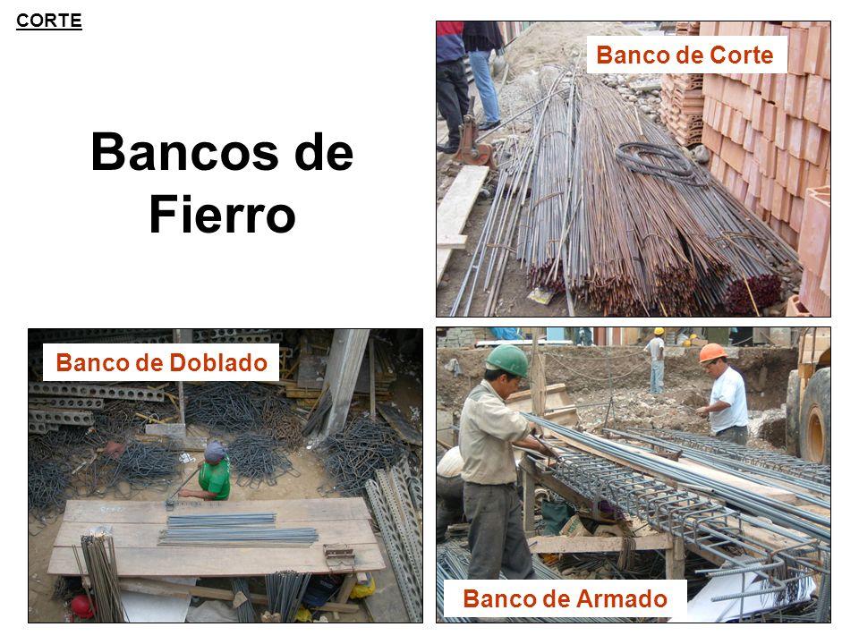 Bancos de Fierro Banco de Corte Banco de Armado Banco de Doblado CORTE