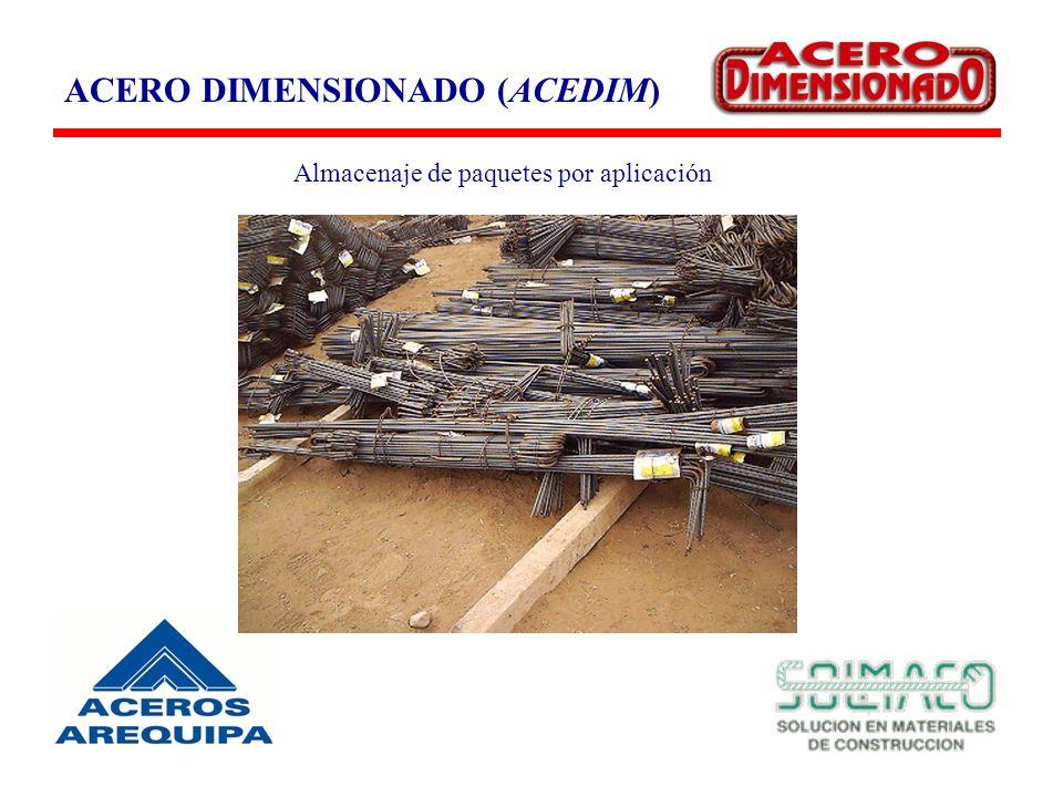 ACERO DIMENSIONADO (ACEDIM) Almacenaje de paquetes por aplicación