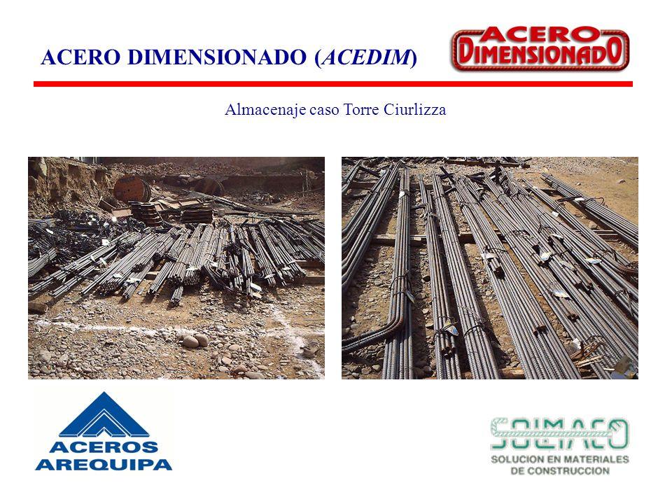 ACERO DIMENSIONADO (ACEDIM) Almacenaje caso Torre Ciurlizza