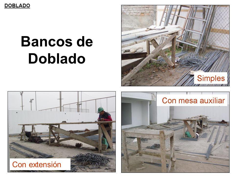 Bancos de Doblado Con extensión DOBLADO