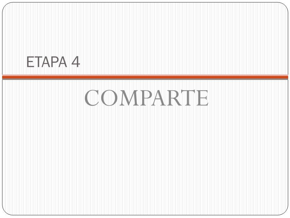 ETAPA 4 COMPARTE
