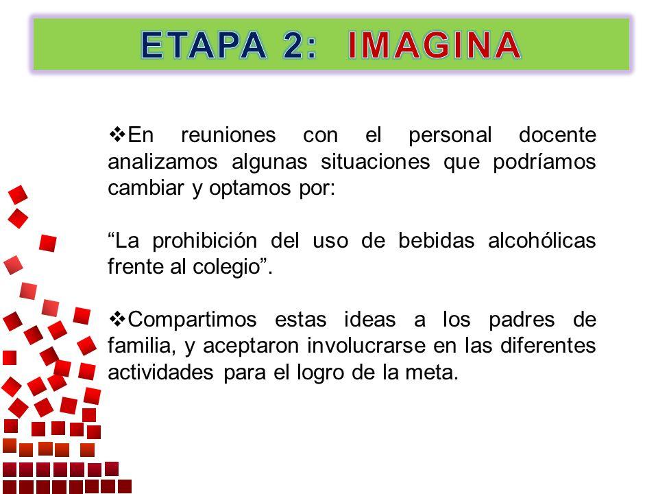 En reuniones con el personal docente analizamos algunas situaciones que podríamos cambiar y optamos por: La prohibición del uso de bebidas alcohólicas