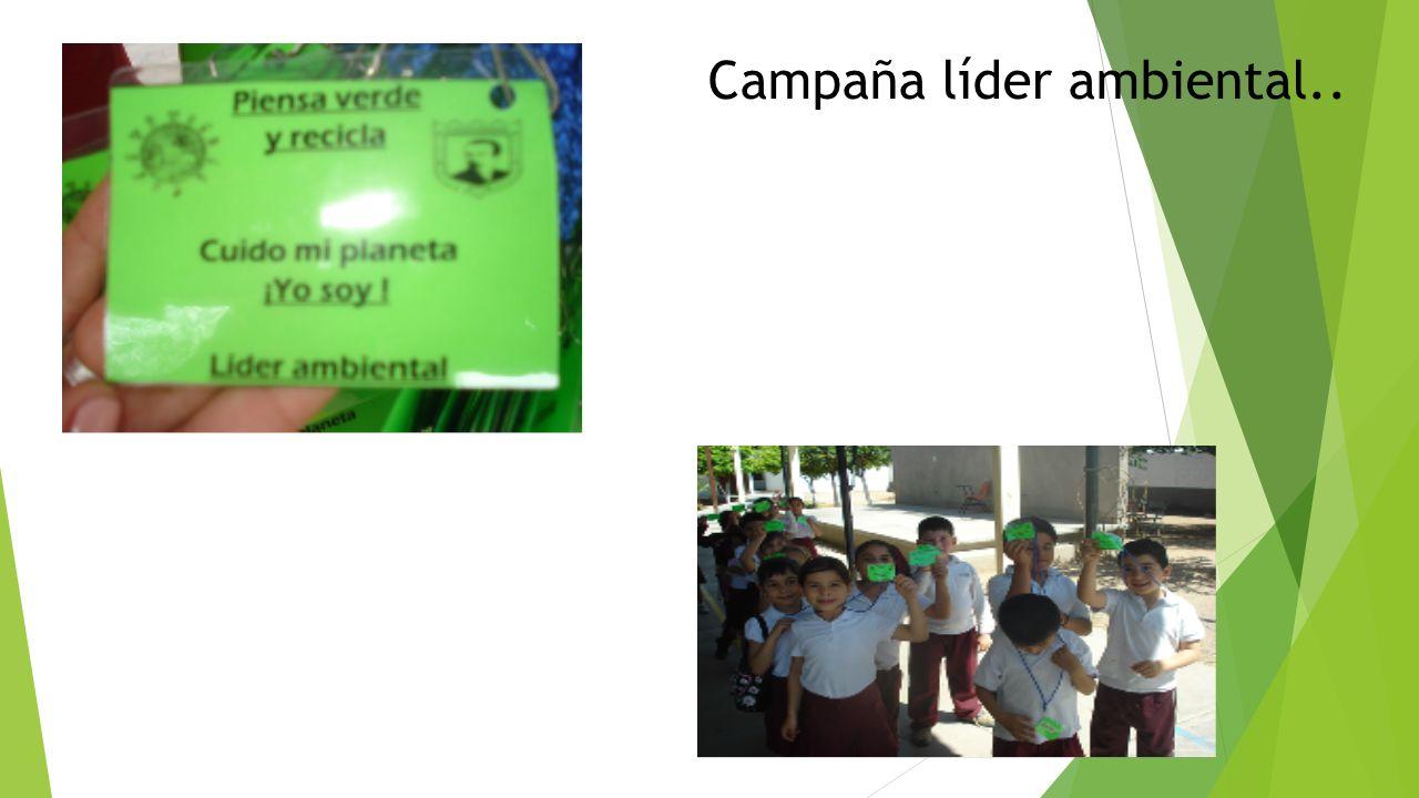 Campaña líder ambiental..