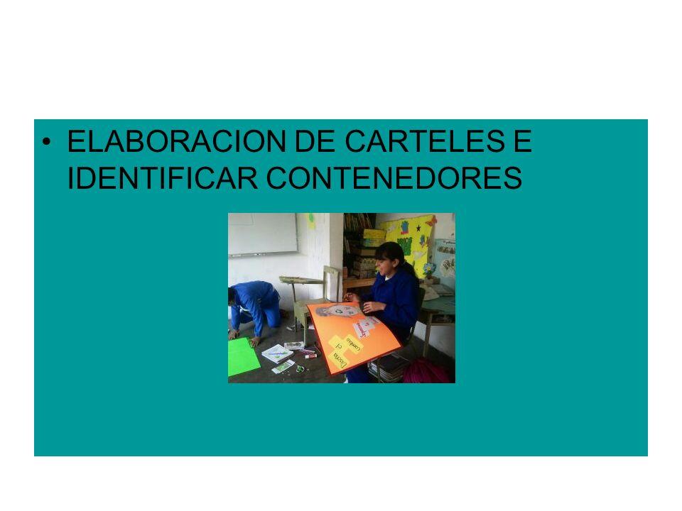 ELABORACION DE CARTELES E IDENTIFICAR CONTENEDORES