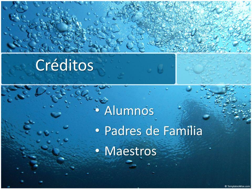 Créditos Alumnos Alumnos Padres de Familia Padres de Familia Maestros Maestros