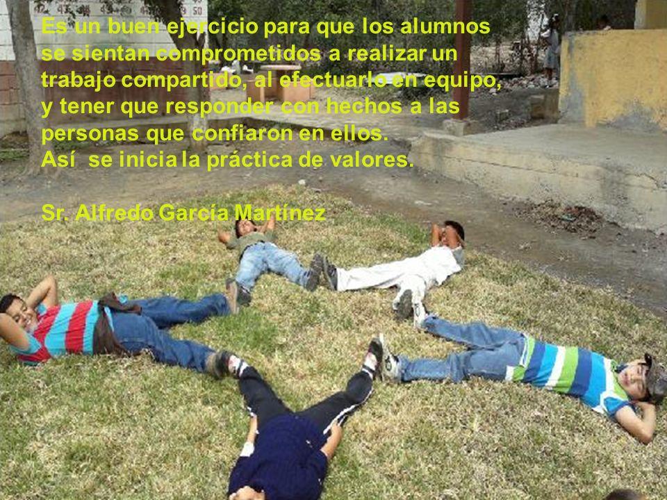 Es un buen ejercicio para que los alumnos se sientan comprometidos a realizar un trabajo compartido, al efectuarlo en equipo, y tener que responder co