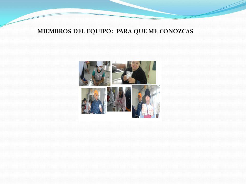 MIEMBROS DEL EQUIPO: PARA QUE ME CONOZCAS