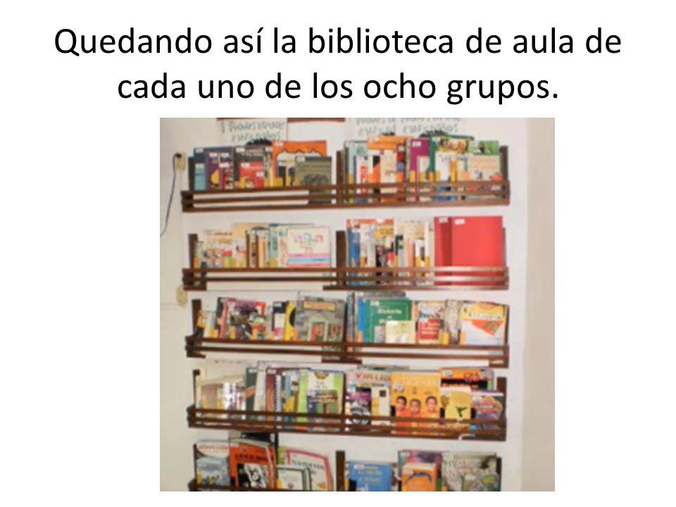 De la misma forma se organizó la biblioteca de escuela con ayuda de una madre de familia que donó la madera, un carpintero, padres de familia que pintaron y limpiaron el espacio y los alumnos de sexto que organizaron los libros.