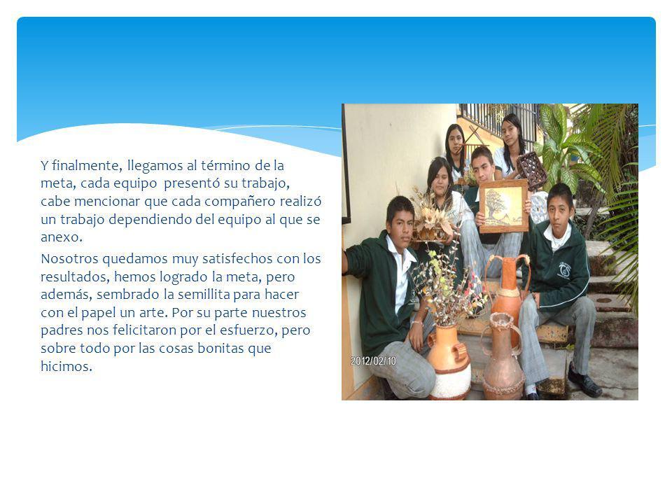 Trabajos elaborados por los alumnos de la escuela en coordinación con los maestros.