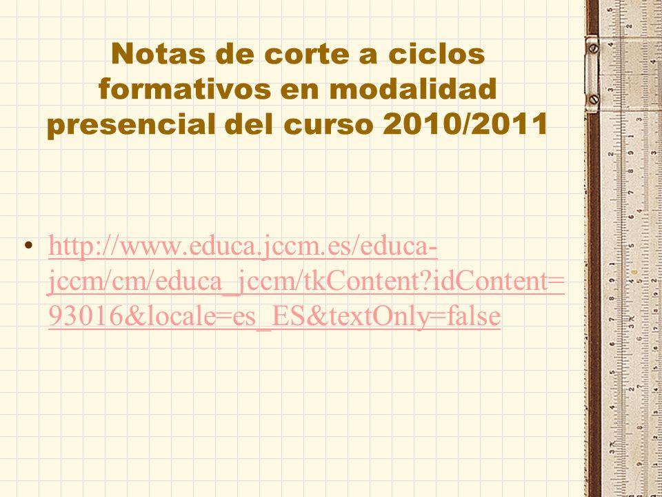 Acceso a ciclos de ARTES PLÁSTICAS Y DISEÑO http://www.educa.jccm.es/educa- jccm/cm/educa_jccm/tkContent?idContent= 29559&locale=es_ES&textOnly=falseh