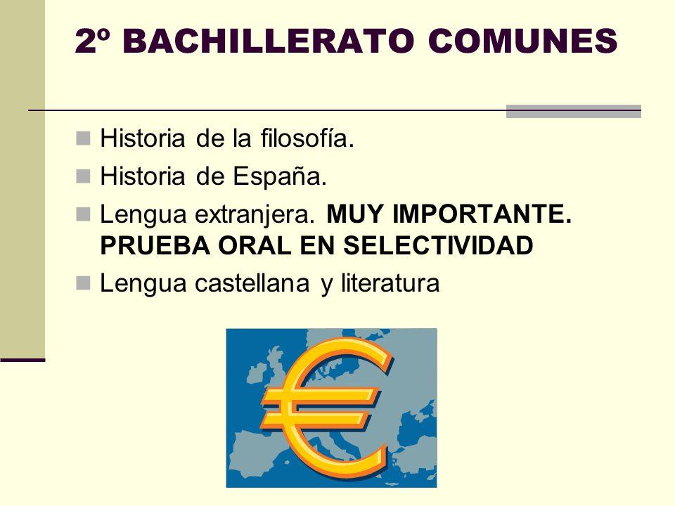 Las modalidades de bachillerato Artes. Ciencias y Tecnología. Humanidades y Ciencias Sociales.
