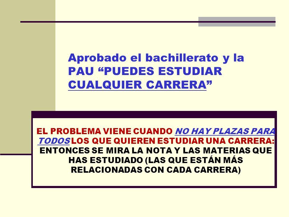 Estudiando Bachillerato en Villaluenga puedes tener ACCESO A: TODAS LAS CARRERAS UNIVERSITARIAS con prueba de acceso. TODOS LOS CICLOS FORMATIVOS DE G