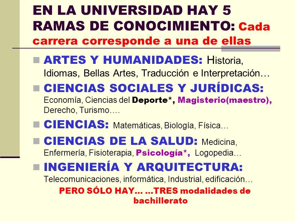 LA UNIVERSIDAD…NO ESTÁ TAN LEJOS SIGLAS PARA ENTENDER LAS TABLAS: DG: DOBLE GRADO UCLM: UNIVERSIDAD DE CASTILLA LA MANCHA 6 UNIVERSIDADES PÚBLICAS DE