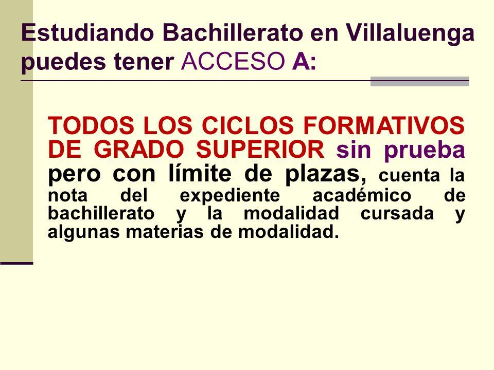 No hay correspondencia entre los 3 bachilleratos con las 5 ramas de conocimiento BACHILLERATOS: Artes. Humanidades y Ciencias Sociales. Ciencias y Tec