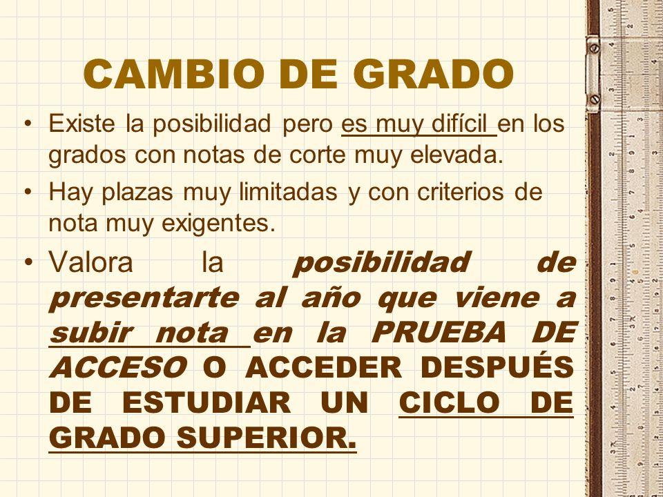 OFERTA DE GRADOS Y PLAN DE ESTUDIOS UCLM: http://www.uclm.es/estudios/catal ogo/?id_tipo=GRA&id_area=1 UNIVERS COMPLUTENSE: http://www.ucm.es/pags.php