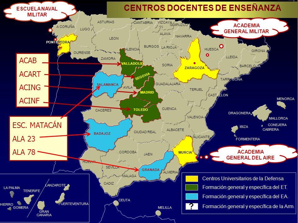 VALENCIA CADIZ A CORUÑA CEUTA MELILLA CANTABRIA GRAN CANARIA TENERIFE FUERTEVENTURA LANZAROTE MALLORCA MENORCA GUADALAJARA LLEIDA MALAGA ALMERIA ZARAGOZA MURCIA PONTEVEDRA ASTURIAS LEON VIZCAYA ALAVA NAVARRA LA RIOJA BURGOS GIRONA BARCELONA HUESCA CIUDAD REAL SEVILLA ALBACETE ALICANTE CORDOBA VIZCAYA IBIZA CONEJERA CABRERA LA PALMA GOMERA HIERRO OURENSE LUGO ZAMORA AVILA CACERES SORIA TERUEL TARRAGONA CASTELLON CUENCA HUELVA JAEN FORMENTERA DRAGONERA PALENCIA CENTROS DOCENTES DE ENSEÑANZA .