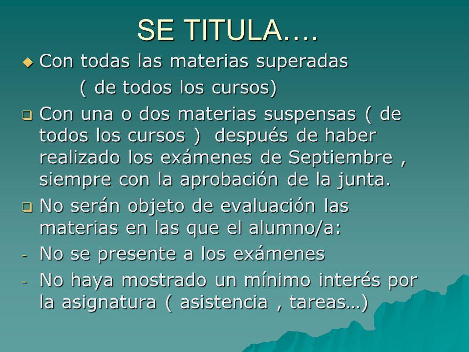 Las asignaturas en 1º son las siguientes: COMUNES: Lengua Castellana y Lit.I………3h.