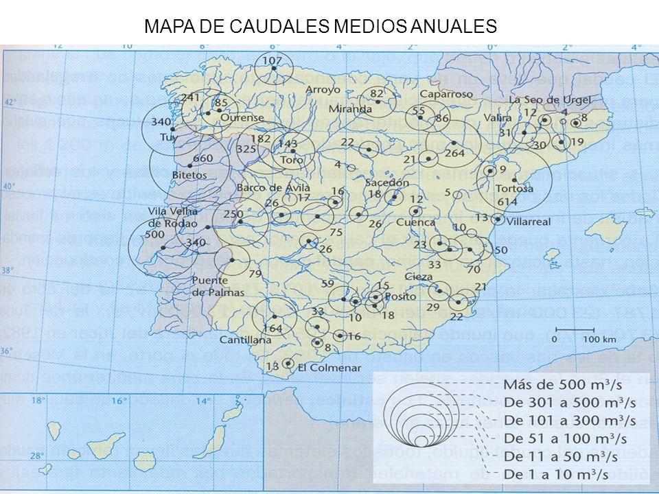 MAPA DE CAUDALES MEDIOS ANUALES