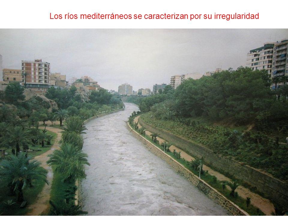 Los ríos mediterráneos se caracterizan por su irregularidad