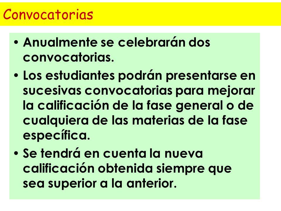 La nota incorporará las calificaciones de la fase específica en el caso de que las materias estén adscritas a la rama de conocimiento del título al qu