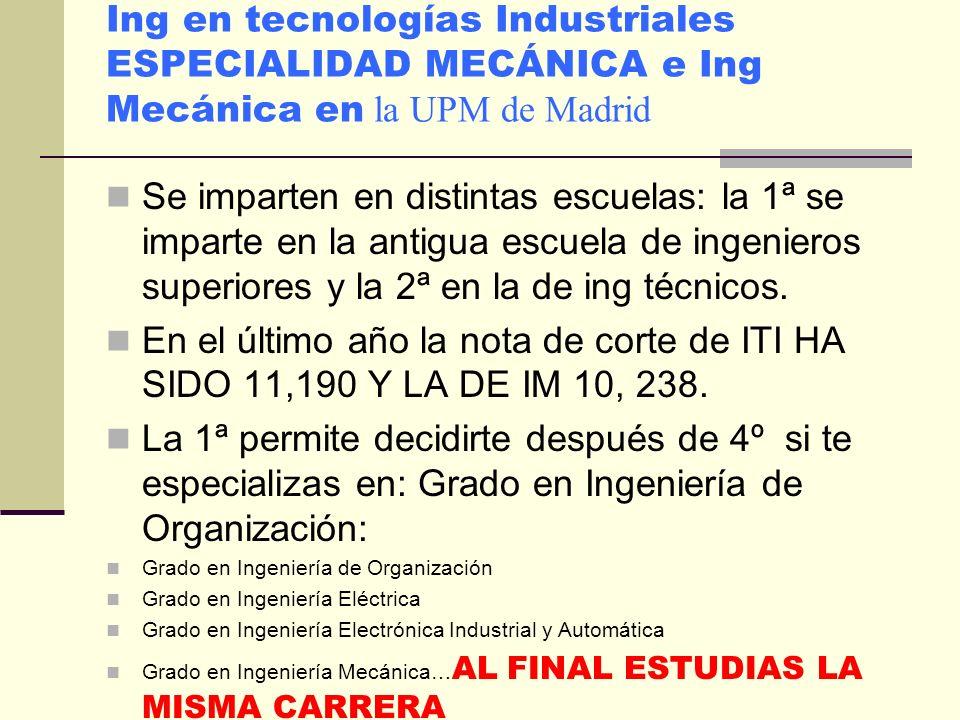 RAMA DE CARRERAS: Arquitectura e Ingeniería II En 1º BACH imprescindible: MAT I, FQ Y ELEGIR ENTRE DIBUJO TEC. I Y TEC. INDUST. I en función de la car