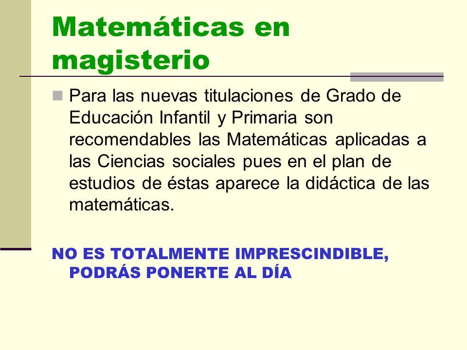 LISTADO PRINCIPALES CARRERAS DE CIENCIAS SOCIALES Y JURÍDICAS II MAESTRO EN EDUCACIÓN PRIMARIA Y Maestro en educación Infantil.