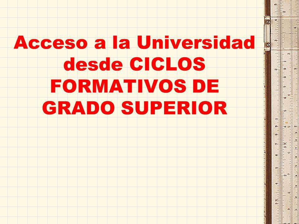 Convalidación de las enseñanzas de la Formación Profesional con los estudios universitarios de Grado, Todos los títulos de Técnico Superior desarrollados según la LOE, llevan incorporados un número variable de créditos ECTS.