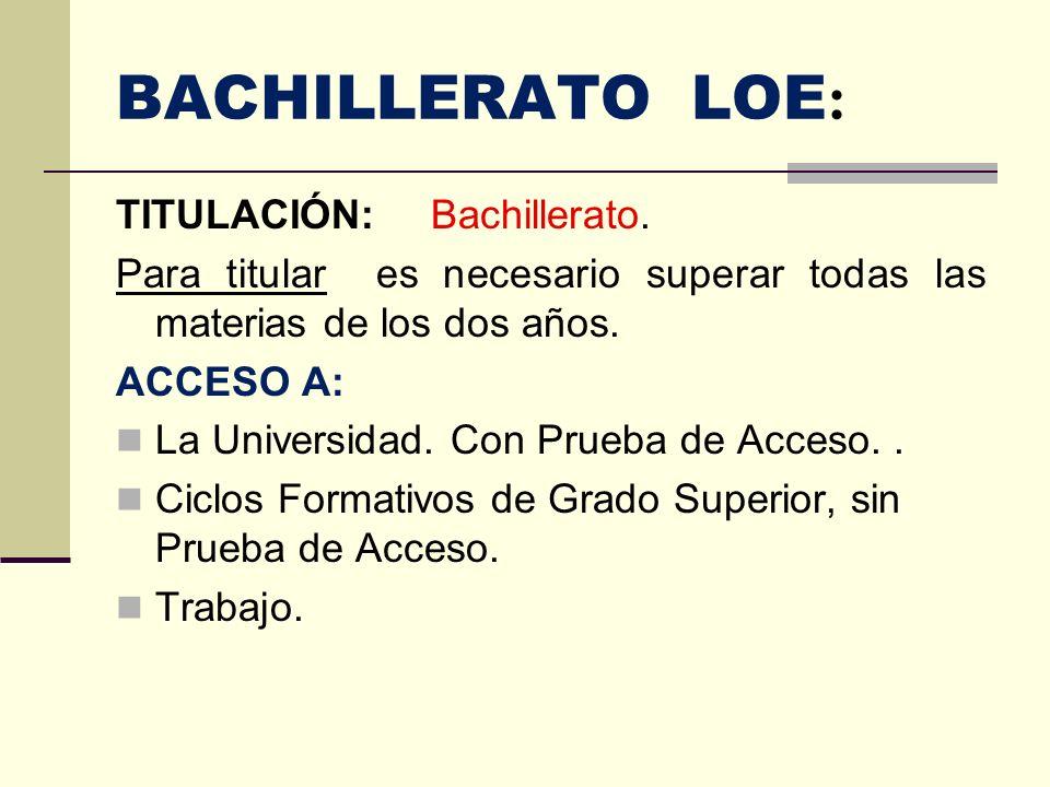 Las modalidades de bachillerato Artes.BA Ciencias y Tecnología.