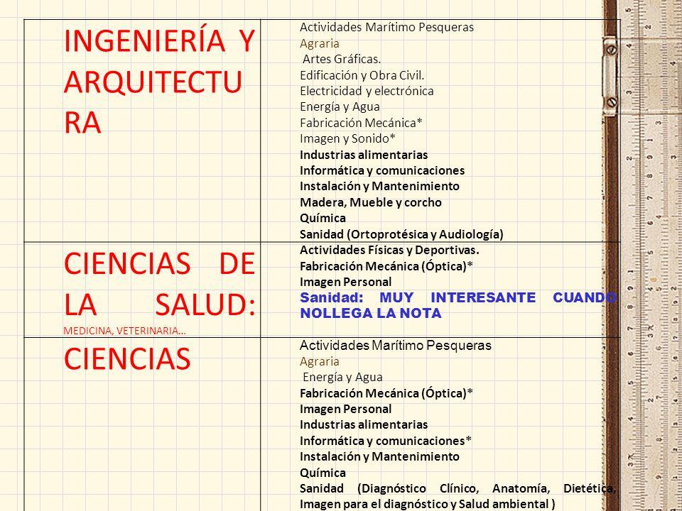 RAMAS DE ESTUDIOS UNIVERSIDAD FAMILIAS DE FP CIENCIAS SOCIALES Y JURÍDICAS: Magisterio, Educación Social (EN TALAVERA Y CUENCA)… - Actividades Físicas y Deportivas.