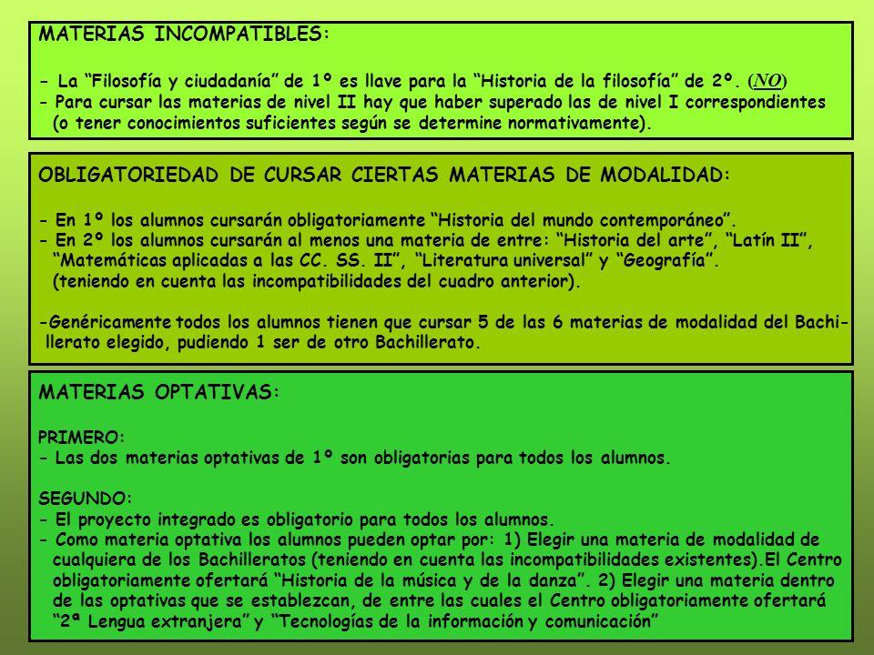 BACHILLERATO LOE PRIMEROSEGUNDO ARTES MATERIAS COMUNES - Ciencias para el mundo contemporáneo.................
