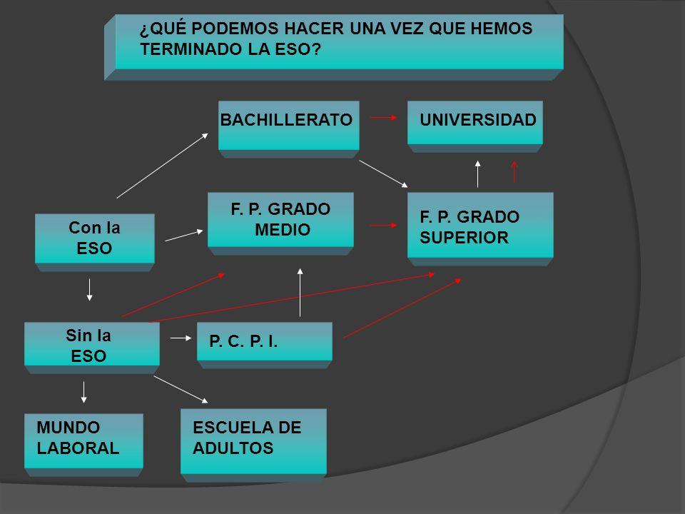 Bachillerato Podrán acceder a los estudios del bachillerato los alumnos que estén en posesión del título de Graduado en Educación Secundaria Obligatoria.