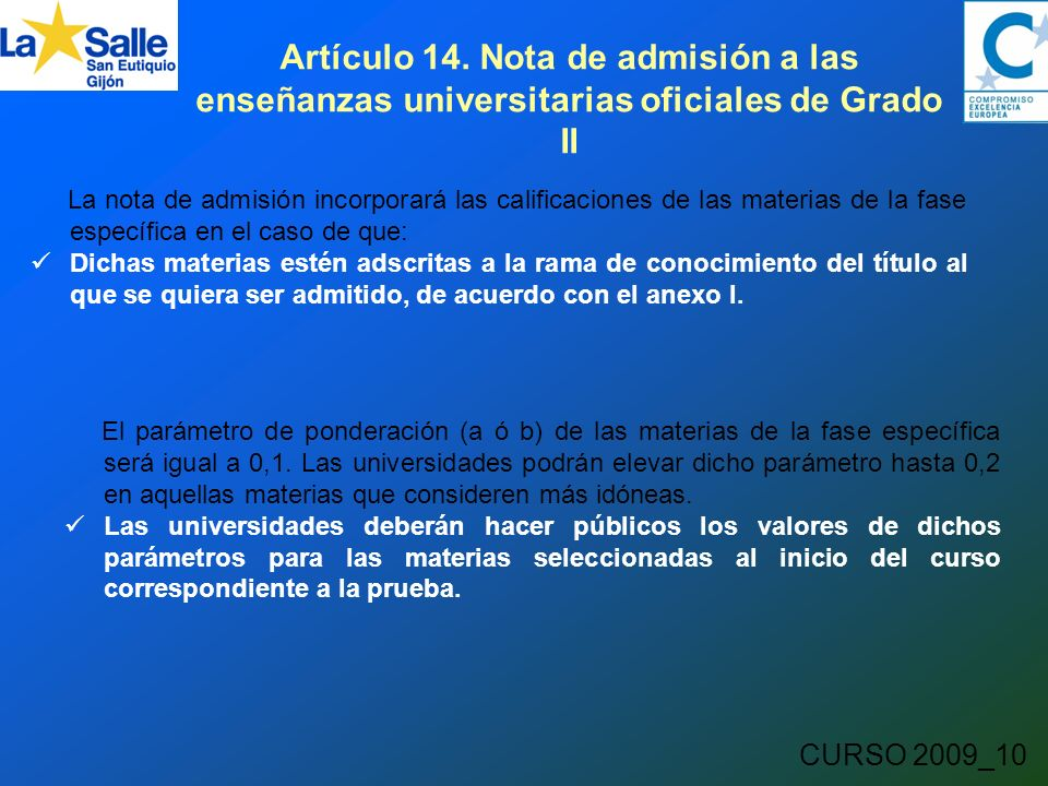 CURSO 2009_10 Artículo 14.