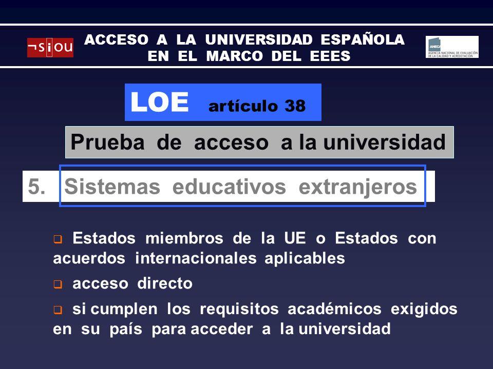 LOE artículo 38 5.