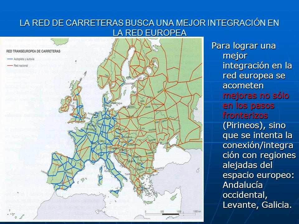 LA RED DE CARRETERAS BUSCA UNA MEJOR INTEGRACIÓN EN LA RED EUROPEA Para lograr una mejor integración en la red europea se acometen mejoras no sólo en