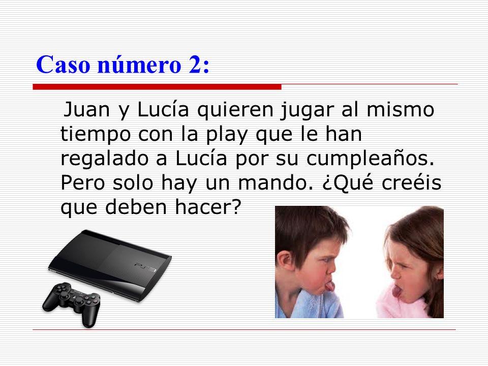 Caso número 2: Juan y Lucía quieren jugar al mismo tiempo con la play que le han regalado a Lucía por su cumpleaños. Pero solo hay un mando. ¿Qué creé