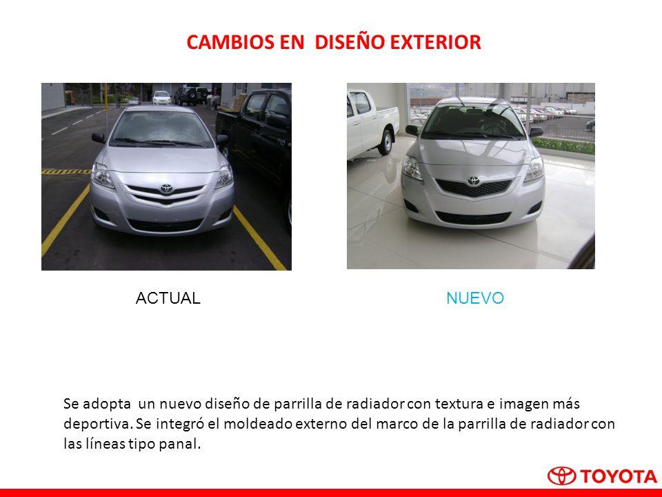 CAMBIOS EN DISEÑO EXTERIOR Nuevo!