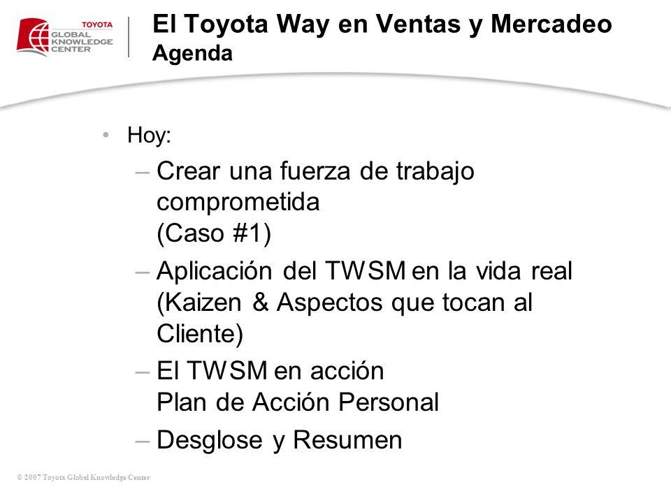 © 2007 Toyota Global Knowledge Center ¿Beneficios.