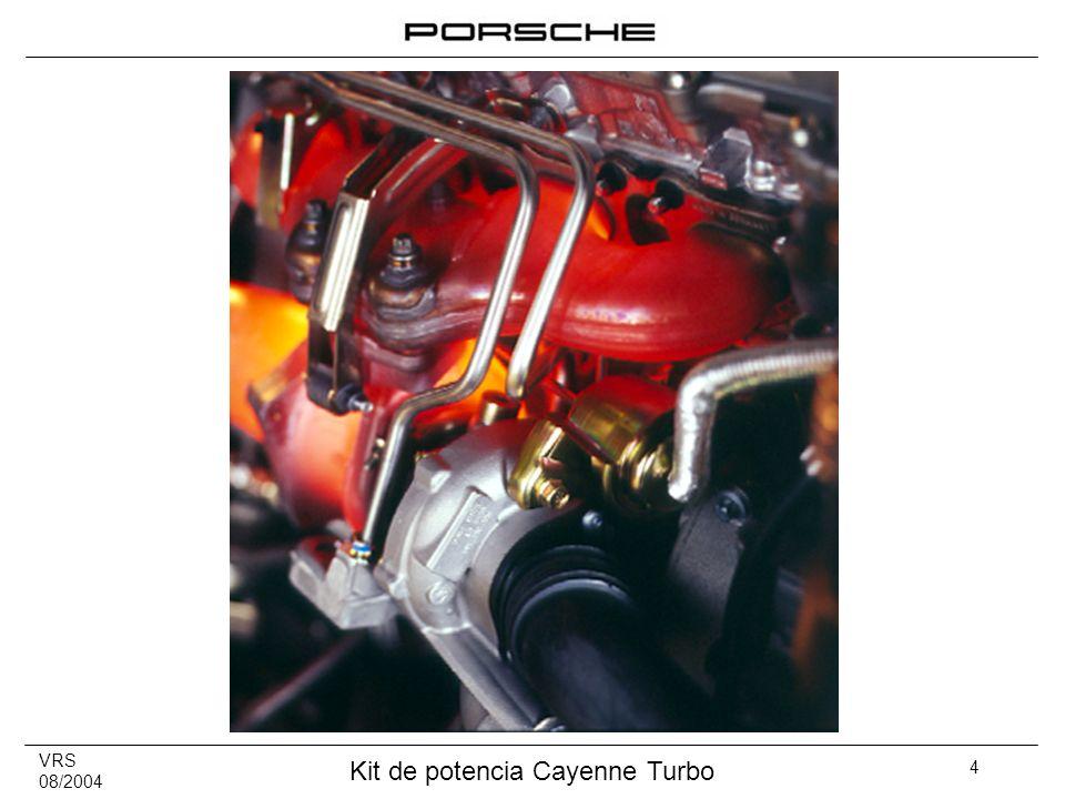 VRS 08/2004 Kit de potencia Cayenne Turbo 15 Debido al mejor rendimiento del motor respecto al flujo de aire, el Cayenne Turbo con kit de potencia no consume más combustible según los requisitos del ciclo de prueba 80/1268/CEE (NEFZ).