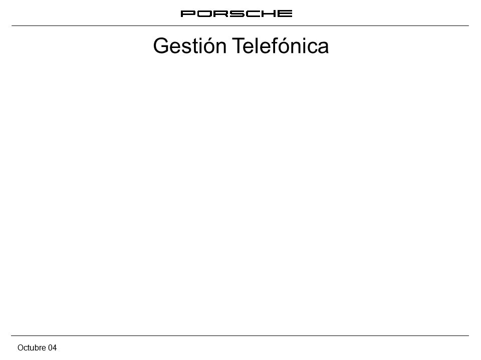 Octubre 04 Gestión telefónica 12 Los componentes de la comunicación telefónica No olvidar Contestar antes del tercer tono Llamar al cliente por nombre o apellido Tratar al cliente de usted excepto cuando la relación permita otro tratamiento Sonreír Hablar claramente y despacio Tono de voz amable Disponer de papel para tomar notas Obtener el máximo de información antes de pasar a la acción No dejar al cliente esperando en la línea demasiado tiempo Justificar tiempos de espera Tras un corte o interrupción, llamar al cliente por su nombre Si prevemos una demora larga comprometernos a una llamada posterior