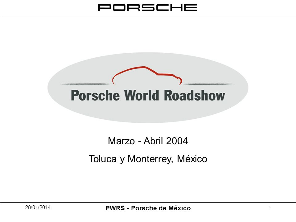 28/01/2014 PWRS - Porsche de México 1 Marzo - Abril 2004 Toluca y Monterrey, México