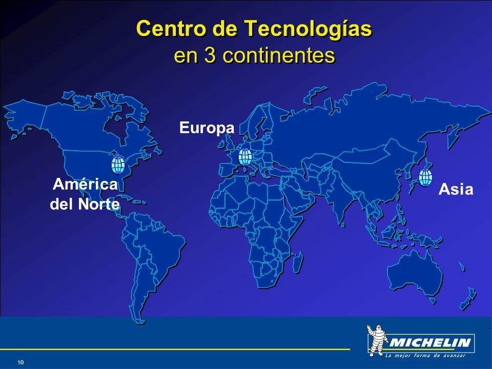 Abril 2004 10 América del Norte Europa Asia Centro de Tecnologías en 3 continentes