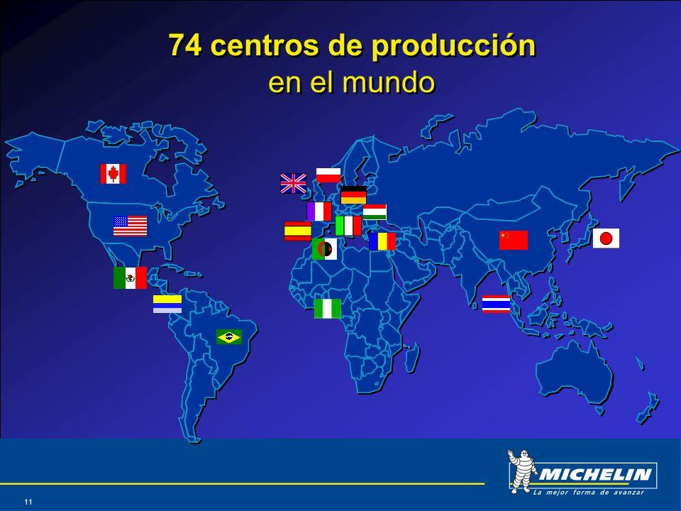 Abril 2004 11 74 centros de producción en el mundo