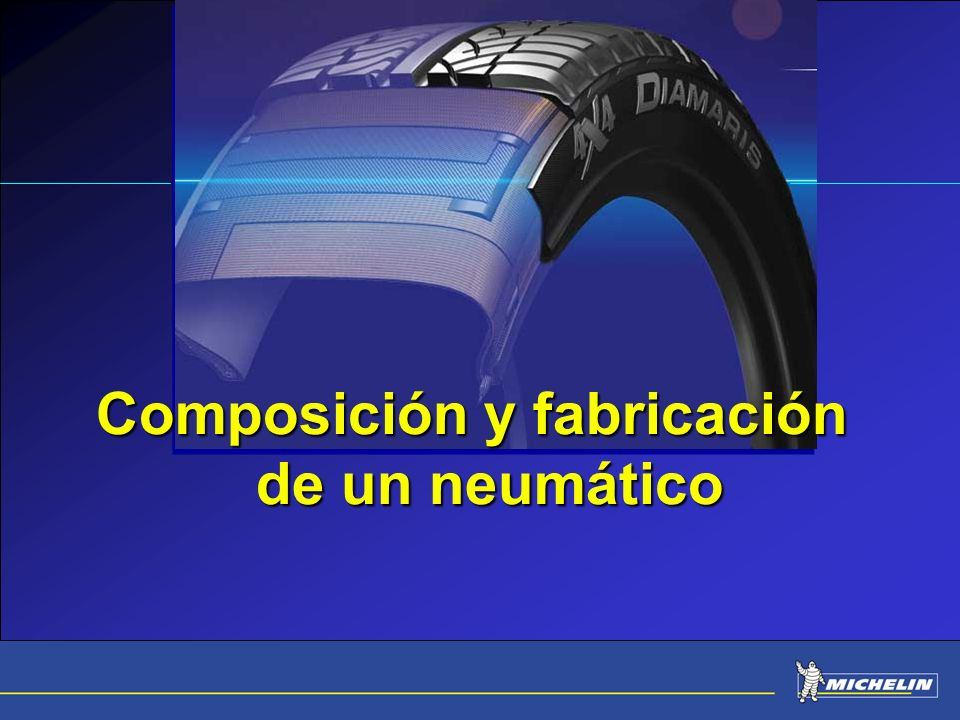 Composición y fabricación de un neumático
