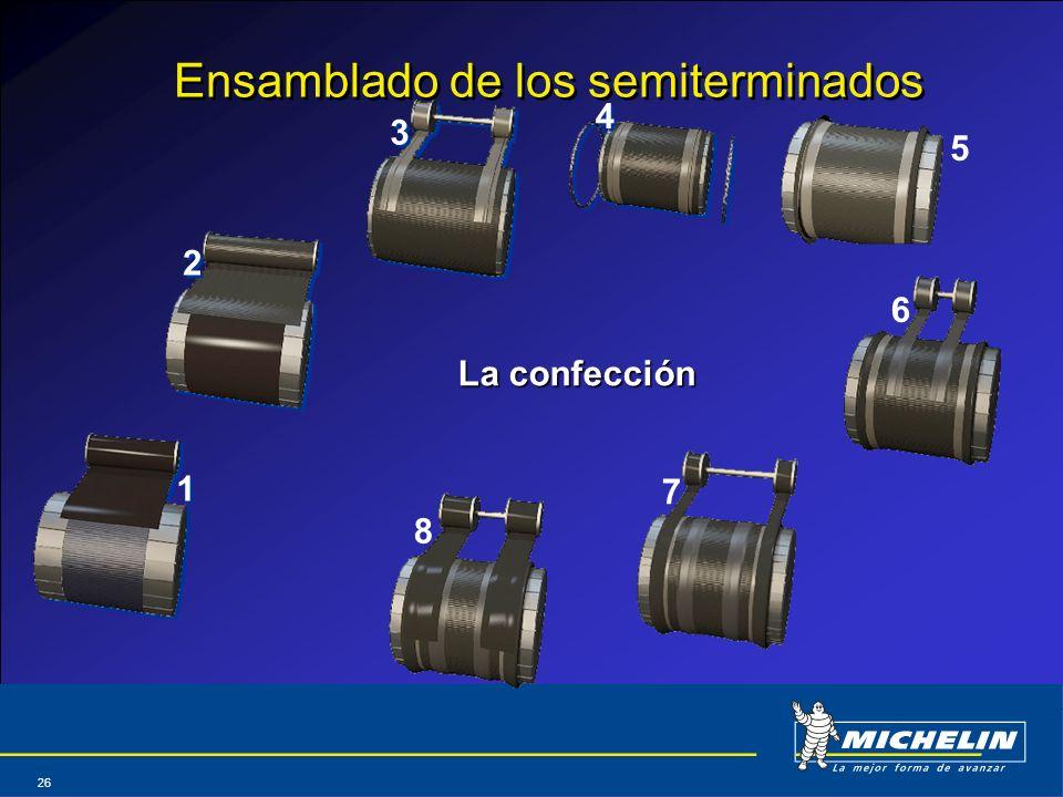 Abril 2004 26 Ensamblado de los semiterminados La confección 1 1 2 2 3 3 4 4 5 6 7 8