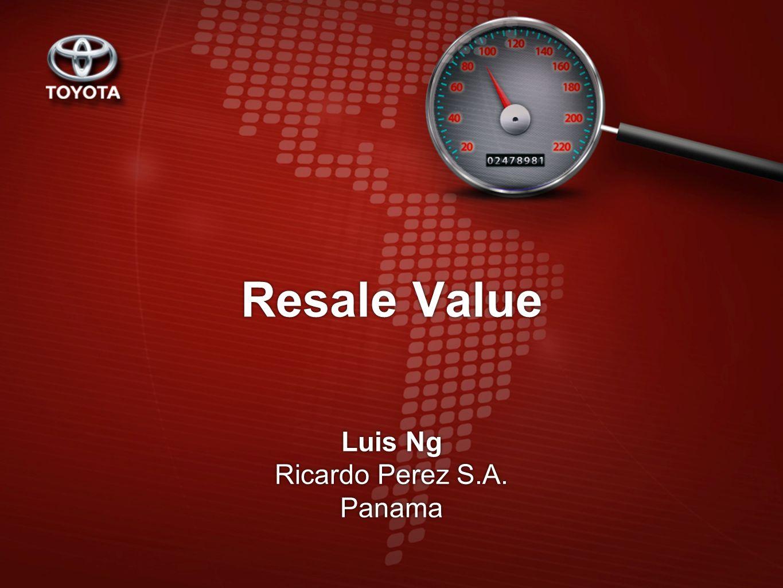 Resale Value Luis Ng Ricardo Perez S.A. Panama Luis Ng Ricardo Perez S.A. Panama