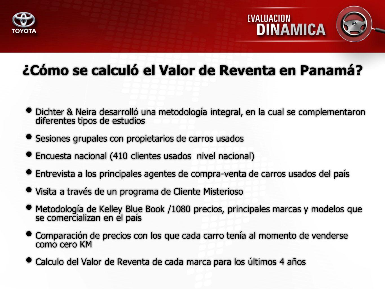 ¿Cómo se calculó el Valor de Reventa en Panamá? Dichter & Neira desarrolló una metodología integral, en la cual se complementaron diferentes tipos de