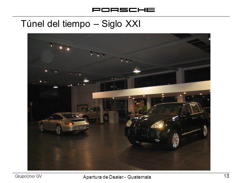 Apertura de Dealer - Guatemala 13 GrupoUno/ GV Túnel del tiempo – Siglo XXI