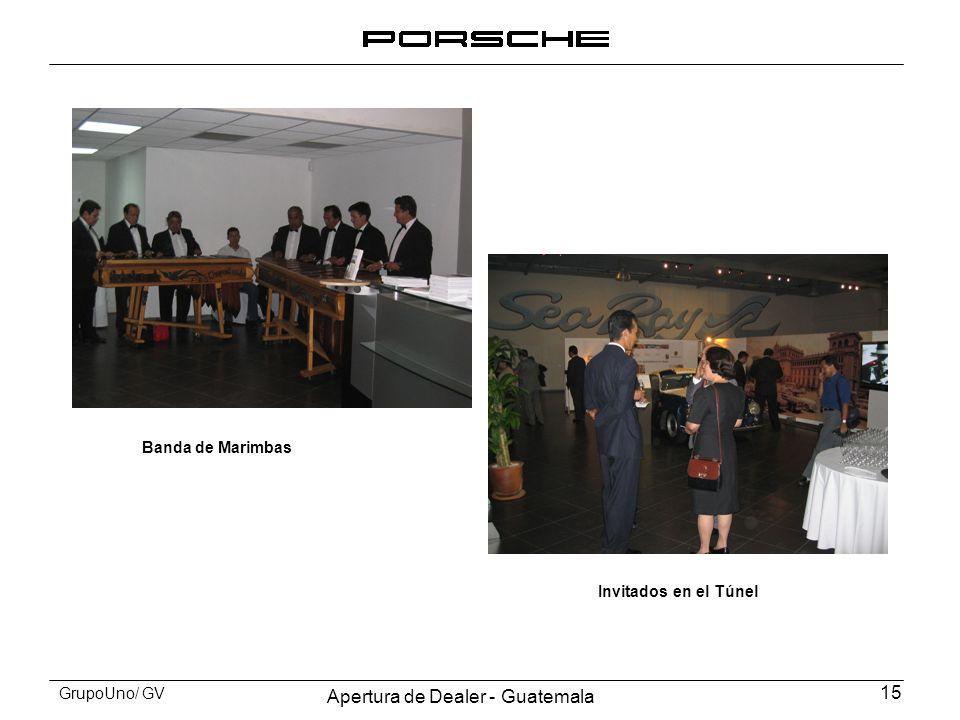 Apertura de Dealer - Guatemala 15 GrupoUno/ GV Banda de Marimbas Invitados en el Túnel