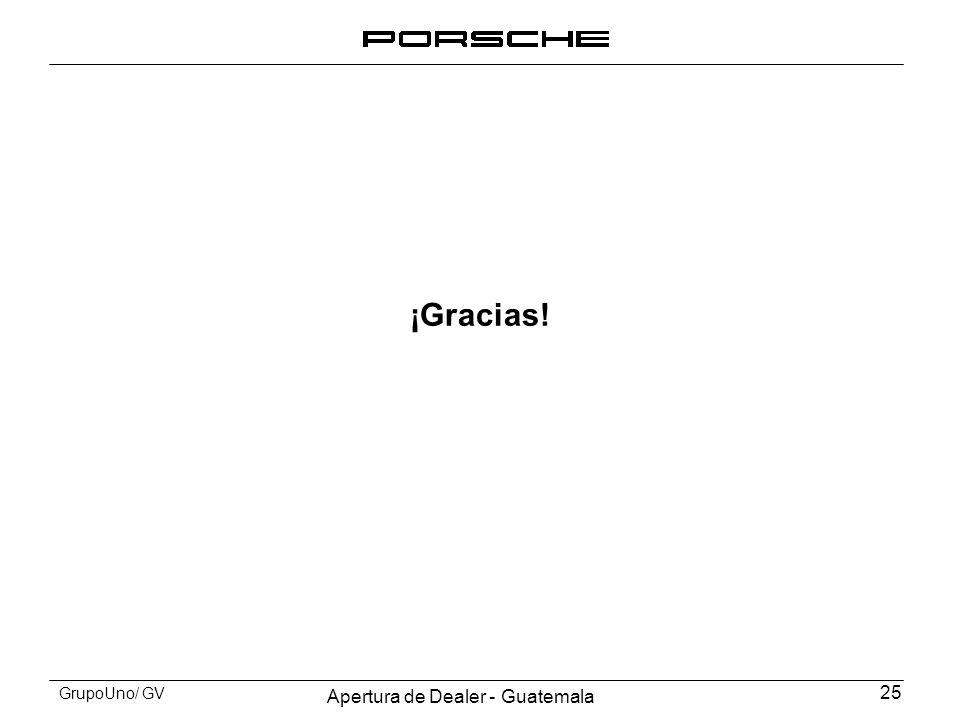 Apertura de Dealer - Guatemala 25 GrupoUno/ GV ¡Gracias!