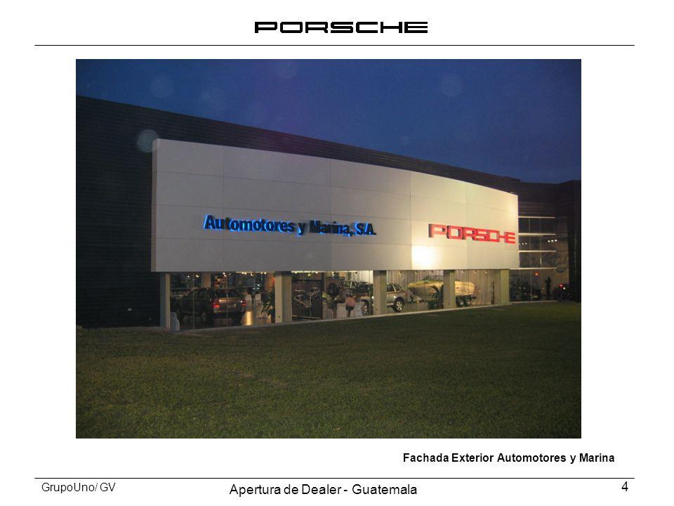 Apertura de Dealer - Guatemala 4 GrupoUno/ GV Fachada Exterior Automotores y Marina